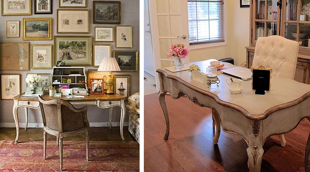 From Shabby Chic Study Areas To Luxurious French Provincial Office Spaces And Everything In Between Here Are A Few Of Our Favourite Inspired Home